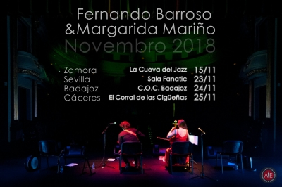 FERNANDO BARROSO junto a MARGARIDA MARIÑO , gira de conciertos presentando SILENCES LOVES MANDOLIN CLUB - MANDOLIN PIECES.